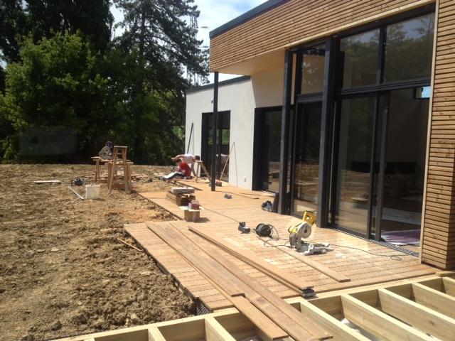 Terrasse bois, menuiserie extérieure